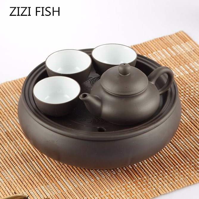 Hot Sale Teapot Chinese Porcelain Yixing Zisha Tea Pot + 3 Cups Kung Fu Tea + Tea Set Set Teapots Handmade Zisha Ceramic Kettle