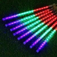 Thrisdar 8pcs Set 50CM Meteor Shower Rain Tubes String Light Garland 240Leds Christmas Fairy String Light