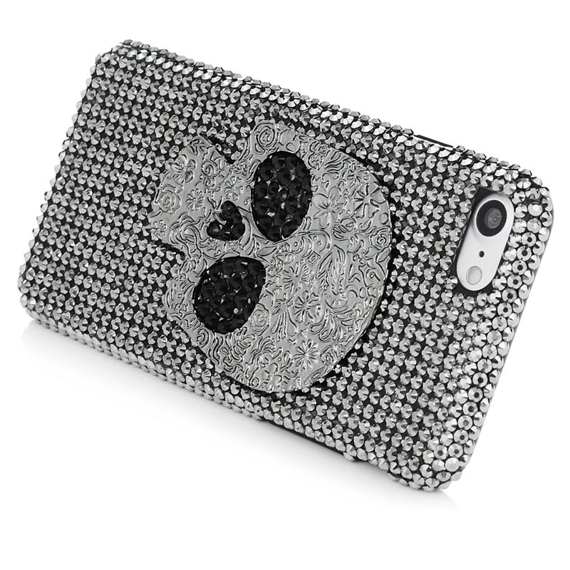 For iPhone 7 / 7 Plus Rhinestone Case , Luxury 3D Glitter Bling Crystal Diamond Cool Skull Design Phone Cover for iPhone7 7Plus