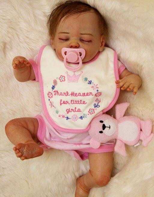Prawdziwy dotyk silikon Reborn dziewczyna dla dzieci lalki zabawki realistyczne miękkie ciało noworodka spania dzieci piękny prezent urodzinowy dziewczyna Brinquedos w Lalki od Zabawki i hobby na  Grupa 3