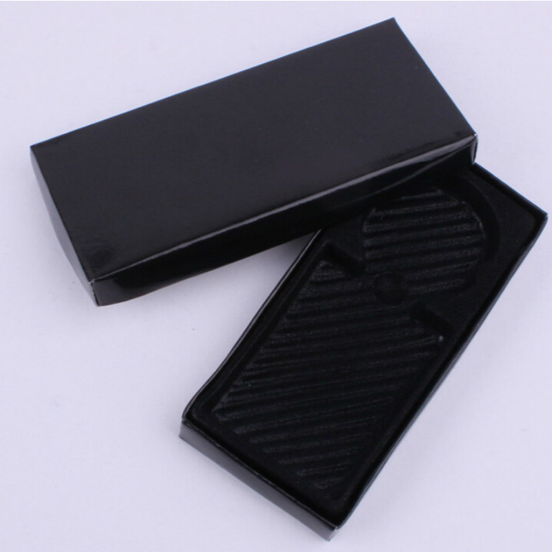 Jewelry Displays Organizer Key Ring Custom Logo Packaaging Boxes For Jewellry Gift Box Paper Gift Cardboard Boxes Black 11x5cm