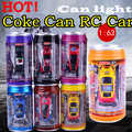¡Caliente! Original 7 colores Coke Can RC coche Radio Control remoto coche Micro coche de carreras juguete 4 Uds bloques de carretera Juguetes De chico regalos