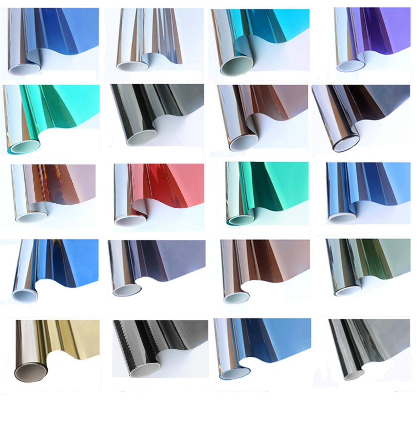 90cm*10m Insulation window film anti uv Silver color solar window film Mirror color window Stickers for Home and office decor