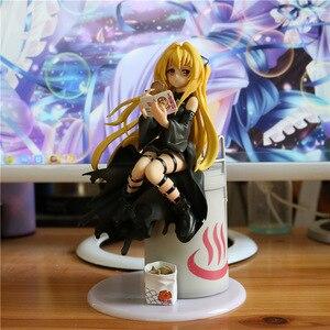 Image 1 - 21cm nouveauté Anime figurine pour aimer Ru obscurité Eve Yami manger Ver daurade brûlé robe noire modèle Collection poupée