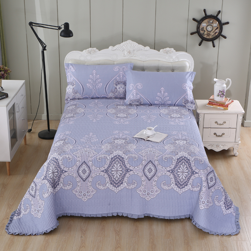 Multi Color Printed Twin Queen Size 3Pcs Bedspread Pillowcase Coverlet Cotton Quilted Bed Cover Bed Spread Set Blanket