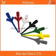 7 цветов на выбор, тестовый крюк для самолета с разъемом, провод, мультиметр, Комплект проводов, SMD IC, крюк, тестовый зажим, кабель для щупа, семь цветов
