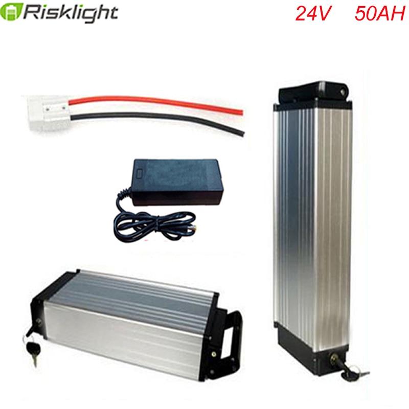 Batterie au lithium rechargeable 24 v 50ah haute puissance batterie arrière ebike 24 V avec chargeur et bms pour cellule Samsung 18650