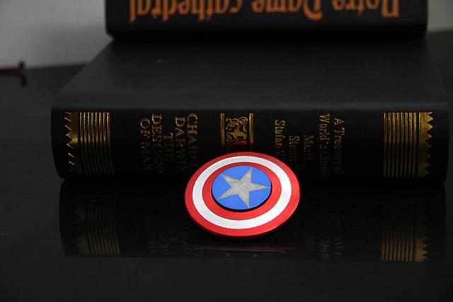HOT New Captain America Shield Fidget Spinner Metal