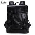 Casual High Capacity Quality Men Backpacks New Fashion High Grade PU Leather Designer Backpack Men's Schoolbag Travel Laptop Bag