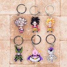 2019 Dragon Ball GT Keychain Goku Cell Frieza Double Sided Acrylic Key Chain Pendant Anime Accessories Cartoon Ring