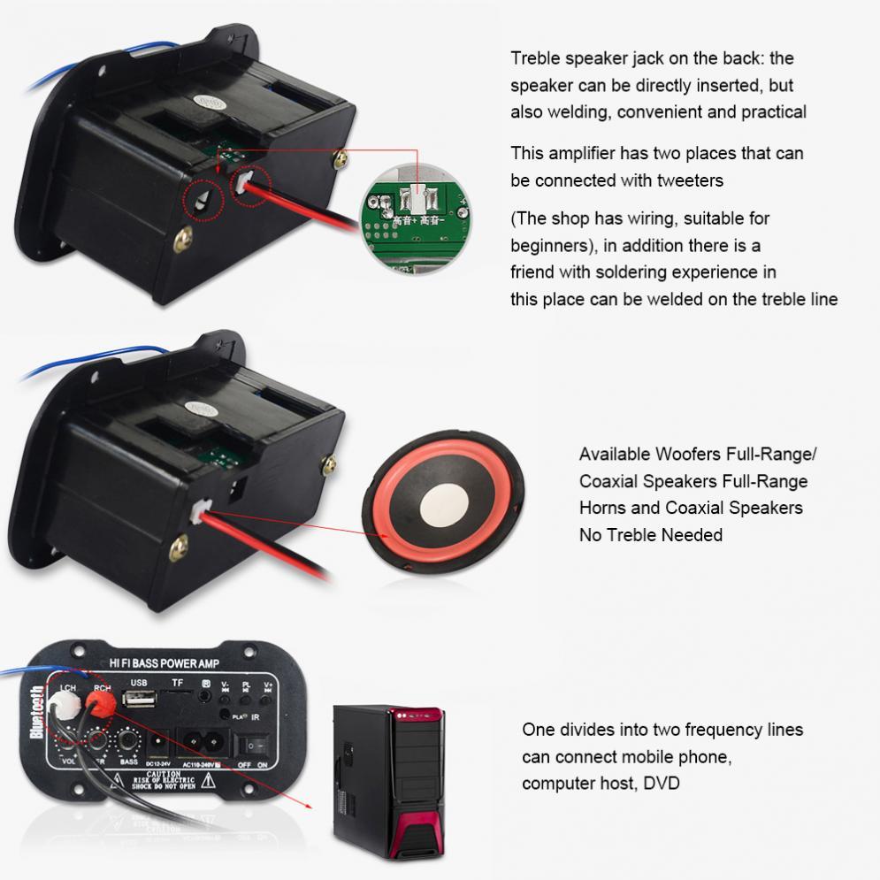 5-дюймовый 25Вт привет-Fi Bluetooth автомобильный аудио усилитель мощности Автомобильный с FM-радио плеер поддержка карта SD / USB или DVD / MP3 вход