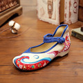 New 2016 Fashion Shoes Woman Old Peking Fish Embroidered Shoes For Women Casual Walking Flats sapato feminino Plus Size 35-41