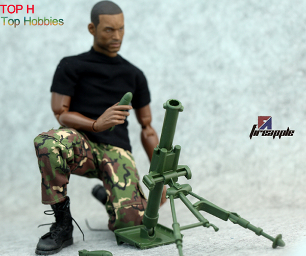 Green 1:6 Scale Action Figure Model Toy Military Combat Soldier Mortar Gun Weapon Arms 1 6 soldier action figure the dark zone agent renegad with weapon model accessories full set collections