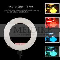 New arrival Yidoblo FC 480 RGB LED Ring Light LED Video Makeup Lamp Photography Movie Studio broadcast Light +2M stand+ bag