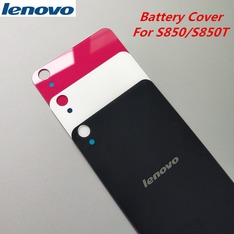 Lenovo S850S850T Original Rear Replacement Housing Cover ,Glass Back Door Hard Battery Case Repair Part,Adhesive sticker