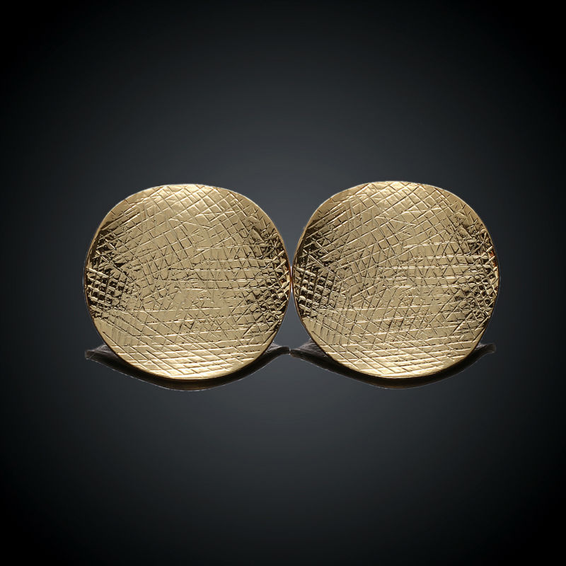 GAGAFEEL Gold color Round Stud Earrings for Women Female Fashion ...