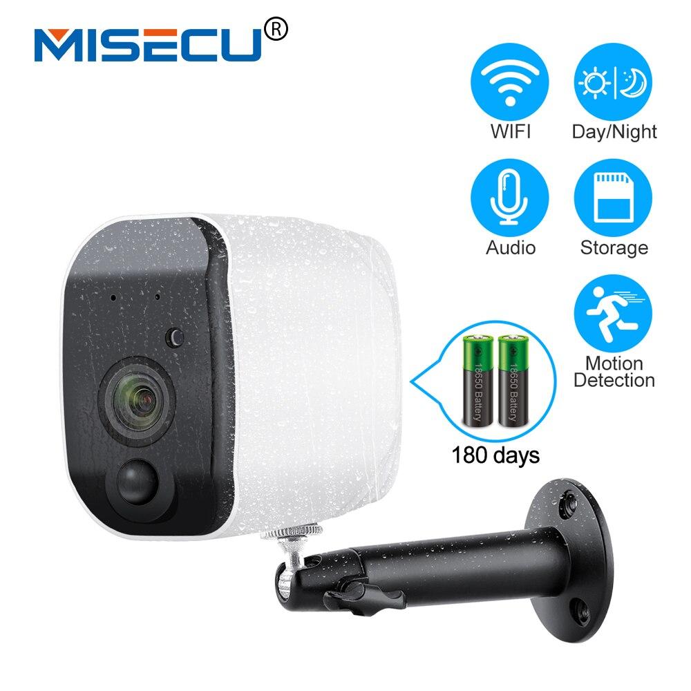 MISECU Открытый 1080 p Full аккумулятор HD Камера 2,4G Wi-Fi Беспроводной IP66 Водонепроницаемый IP Камера внутренняя безопасность жилища H.265 низкая Мощнос...