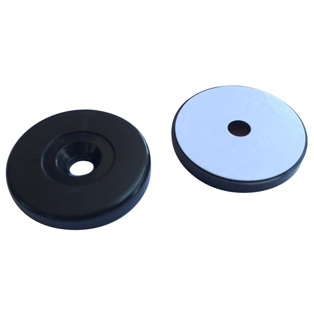 13.56MHZ ISO14443A Anti-Metal MIFARE Classic 1K Black Waterproof RFID Tag With Adhesive Back -5pcs