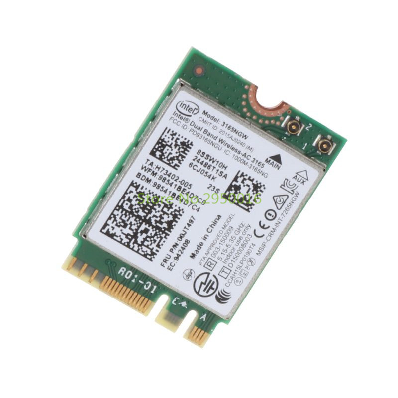 for Intel 00JT497 <font><b>3165NGW</b></font> Wireless-AC Dual Band for Lenovo ThinkPad Bluetooth WiFi IBM Card Laptop NGFF Wlan Network Card C26 image