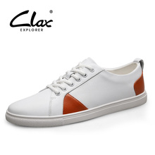 цены CLAX Mens Shoes Leather 2019 Spring Summer Fashion Casual Shoe Male Walking Footwear Designer Leisure shoe Soft