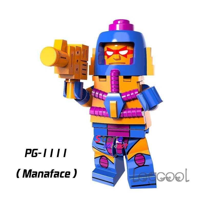 1 個モデルビルディングブロックアクションフィギュアスターウォーズスーパーヒーローを彼はマン · マスターズ Manaface 家趣味人形 diy のおもちゃ子供のギフト