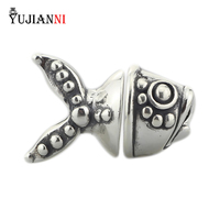 925 Sterling Silver Jewel Of Sea Pendant Charms Fish Bead NOT Original Fit European Troll Bracelet