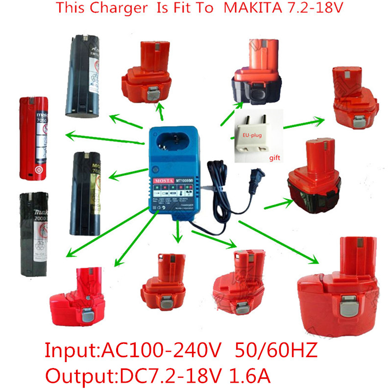 Charger Replacement For MAKITA Charger NI-MH NI-CD Battery 6072D 6073D 6075D 6172D 6710D 6912D DA3000 9000 9001 9002 9033 9600 110 240v al1411dv replace ni cd battery charger for bosch charger gdr12v gsb12v gsb14 4v gsr 7 2v gsr9 6v gsr12v gsr14 4v gsr18v