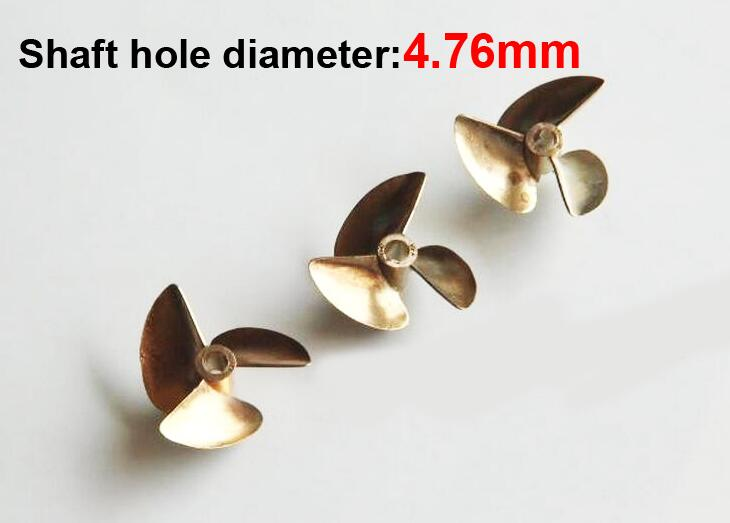 Free Shipping RC Boat 3 blades brass copper three-blades propeller paddle diameter 37mm, shaft hole diameter 4.76mm Positive free shipping beryllium copper 3 blades boat paddle propellers fit for rc 26cc 30cc gasoline boat racing boat diameter 67mm 70mm