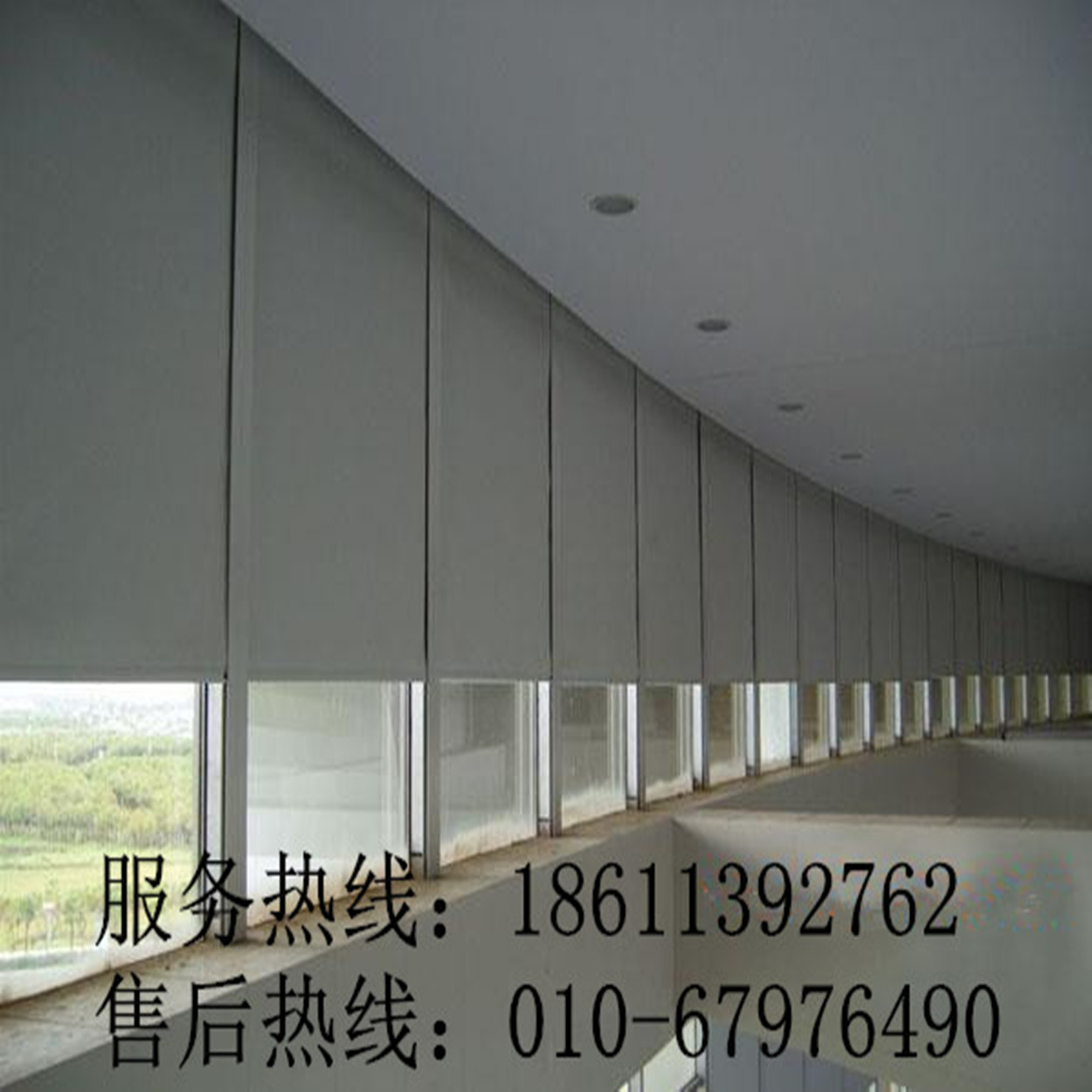 Waterproof Blackout Office Project Rolling Shutter Curtains