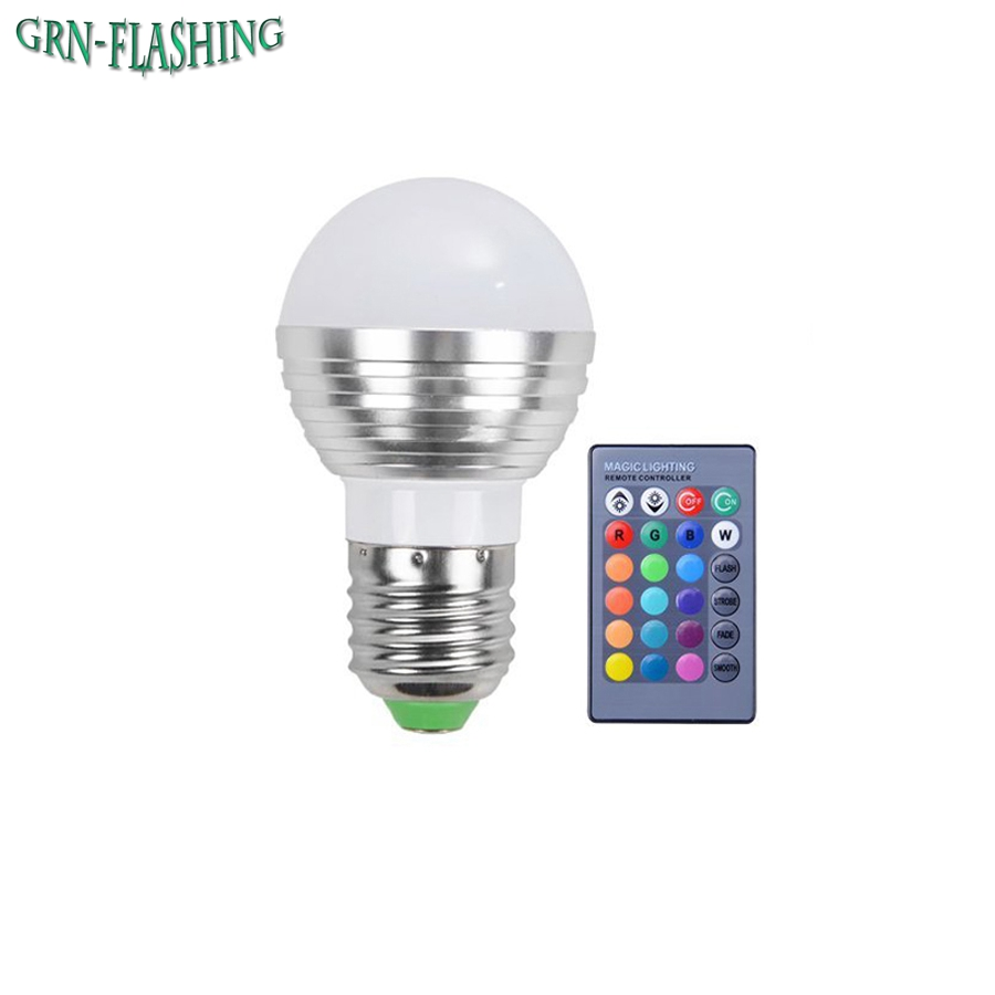Led Bulbs Rgb Led Bulb E27 E14 16 Color Changing Light Candle Bulb Rgb Led Spotlight Lamp Ac85 265v Le 3w Dimmable Gu10 Led Bulbs Color Changing Rgb 16