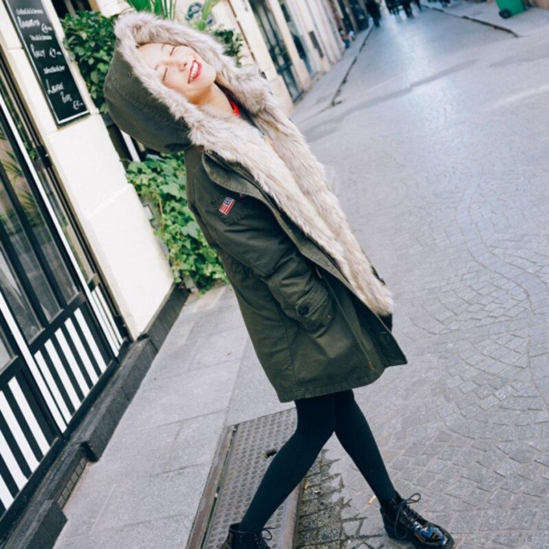 JUPE VENDUE Womens Winter Removable Hood Thick Coat Jacket jupe de satin пальто