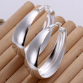 925 Pure silver Big corcles  Hoop Prata Princo earings e018 gift box Free Fashion New Jewelry