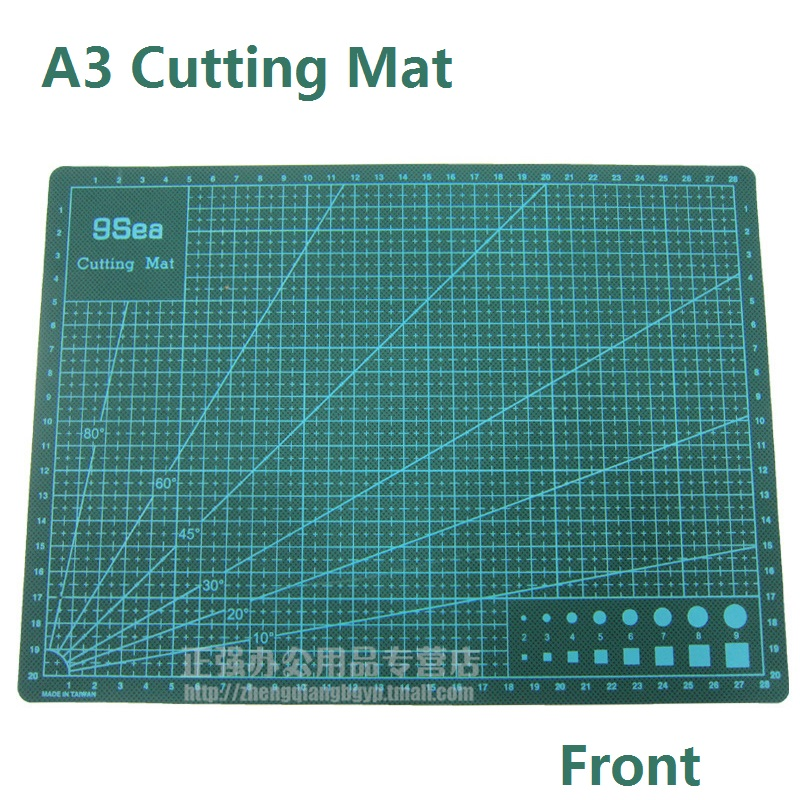 A3 Cutting Plate Double Faced Paper White Core Layer Cutting Mat Designed For Both Rotary And Utility Knives;  45cmx30cm