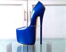 Freies verschiffen 24 cm Absatzhöhe Echtem Leder Sexy Spitz Stiletto Pumps Party Schuhe Mehr Farben vorhanden KEIN. Y2403