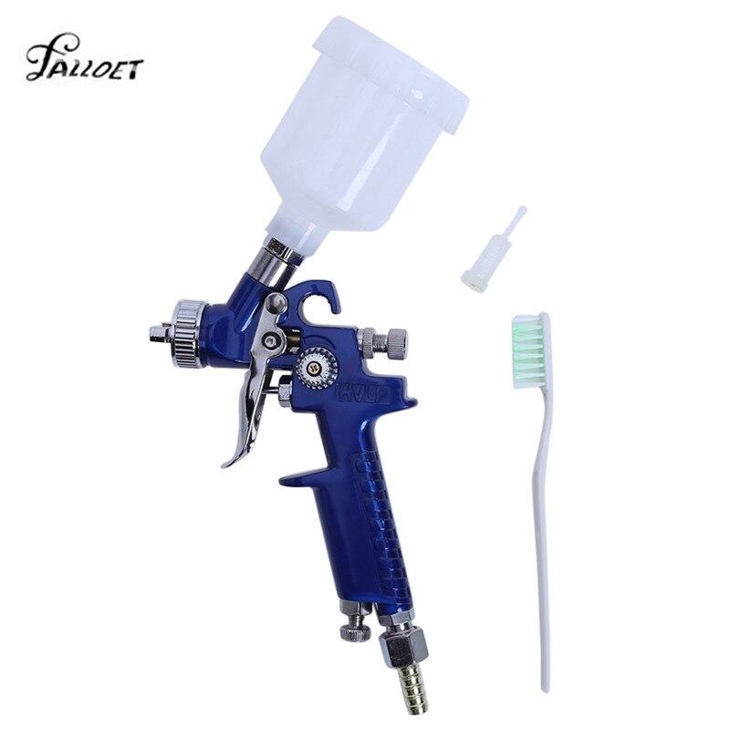 0,8mm/1,0mm boquilla H-2000 Mini pistola de pintura de aire aerógrafo profesional HVLP pistola para pintura de coches aerógrafo herramienta
