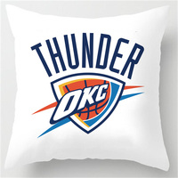 Customized Love Sports Oklahoma City Thunder Theme Retro Throw Square Pillowcase Bedding Pillow Slips Two Sides