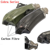 Universal Carbon Fibre Motorcycle Muffler Moto Exhaust pipe TTR YZFR1 YZFR6 YZF600 FZ400 CF150 CF250 GSXR750 GSXR600 Z1000 Z750