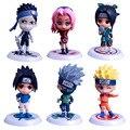 6 pçs/set Anime Naruto Naruto Figuras de Ação Toy PVC Modelo Figura Boneca Brinquedos X186