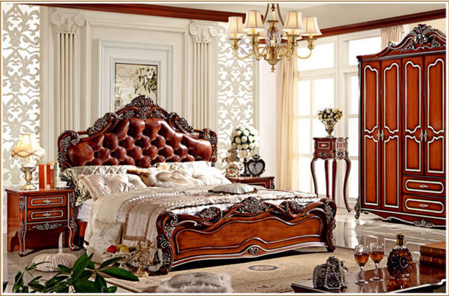 Antique French Spanish Style Provincial Bedroom Furniture