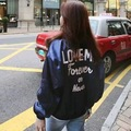 Women Jacket Special Offer Polyester The New 2016 Embroidery Woman Jacket Letters Shiny Loose Sleeves Baseball Bat Suit Pilot