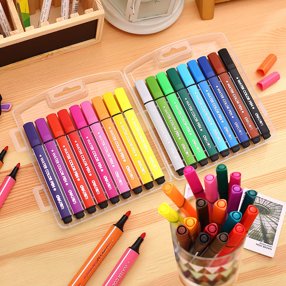 12-18 Color Pen Art Marker Drawing Set Colors Children Watercolor Pen Safe Non-toxic Water Washing Graffiti DIY Marker Pen майка lo lo mp002xw1ax9w