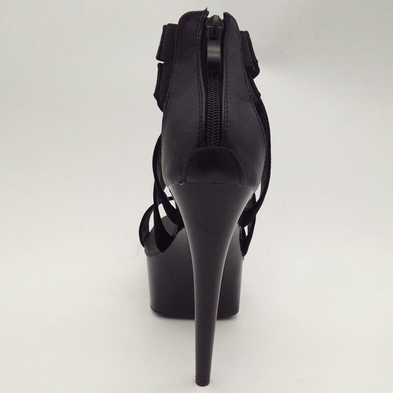 Gladiateur H036 Laijianjinxia Pour Chaussures h036 forme Nouvelle Sandales A Femmes Pompes Talons De Dames Cm h035 Plate Mode Style Été B Haute 15 PZiukX