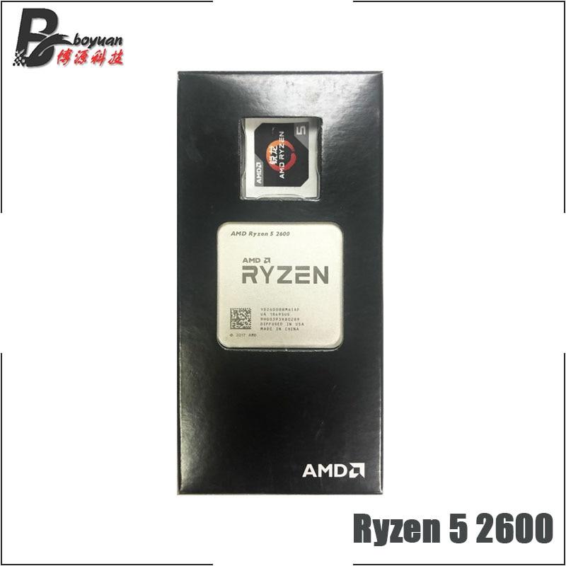 AMD Ryzen 5 2600 R5 2600 3 4 GHz Six Core Twelve Thread CPU Processor YD2600BBM6IAF