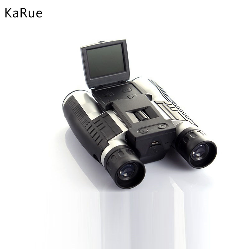 karue NEW 1080P Digital Camera 2.0 LCD 5MP Zoom 12 x 32 Binocular Camcorder DV with Telescope lens binoculars Camera microSD/TF outdoor camping hunting 12x32 hd binocular telescope digital camera 5mp 2 0 tft display full hd 1080p lcd camcorder dv