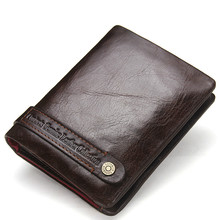 Vintage Leather Hasp Small Wallet Coin Pocket Purse Card Holder Men Wallets Money Cartera Bag Male Clutch First layer cowhide цена