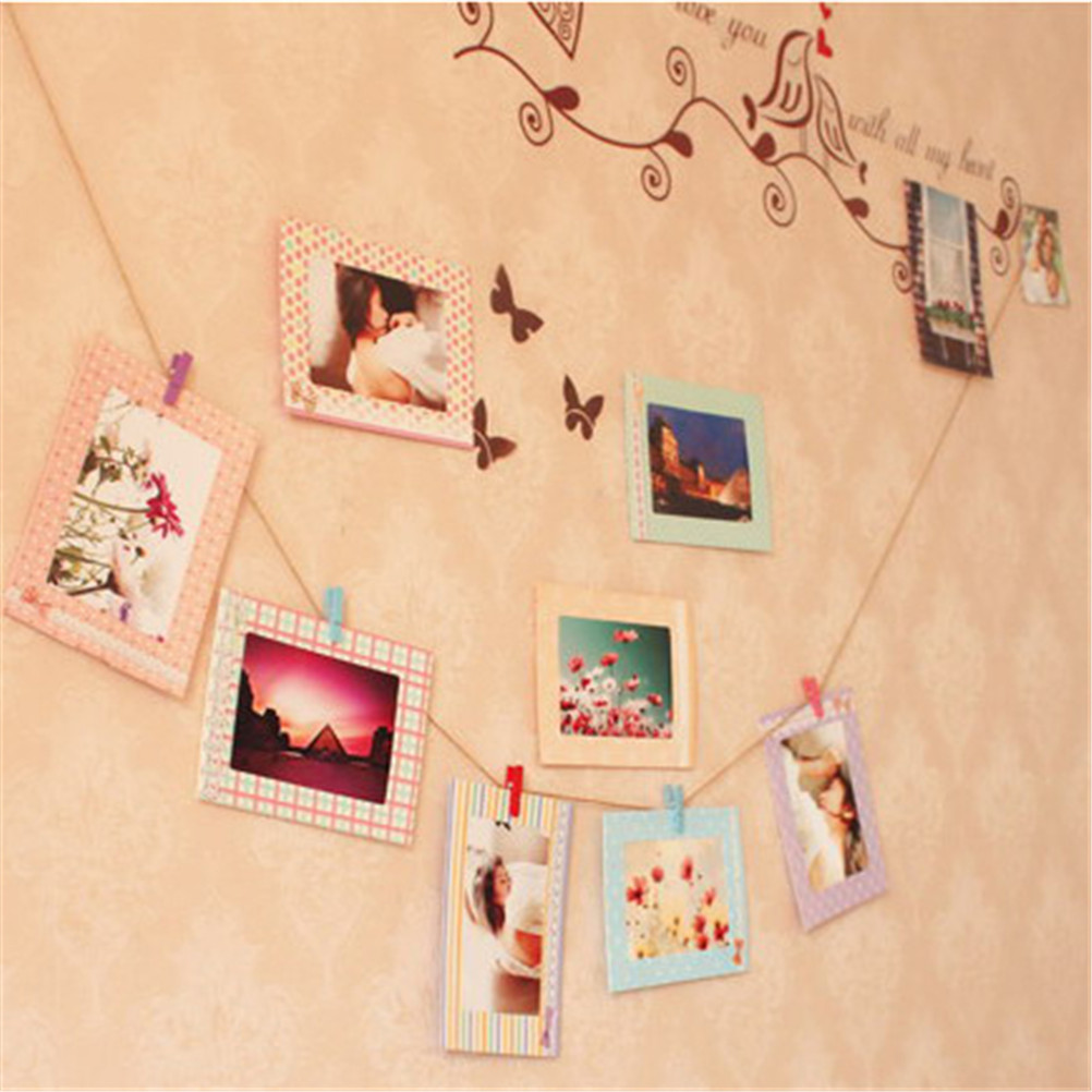 Home Warm Family Personalized Photo Wall Diy Hanging Photo Picture ...
