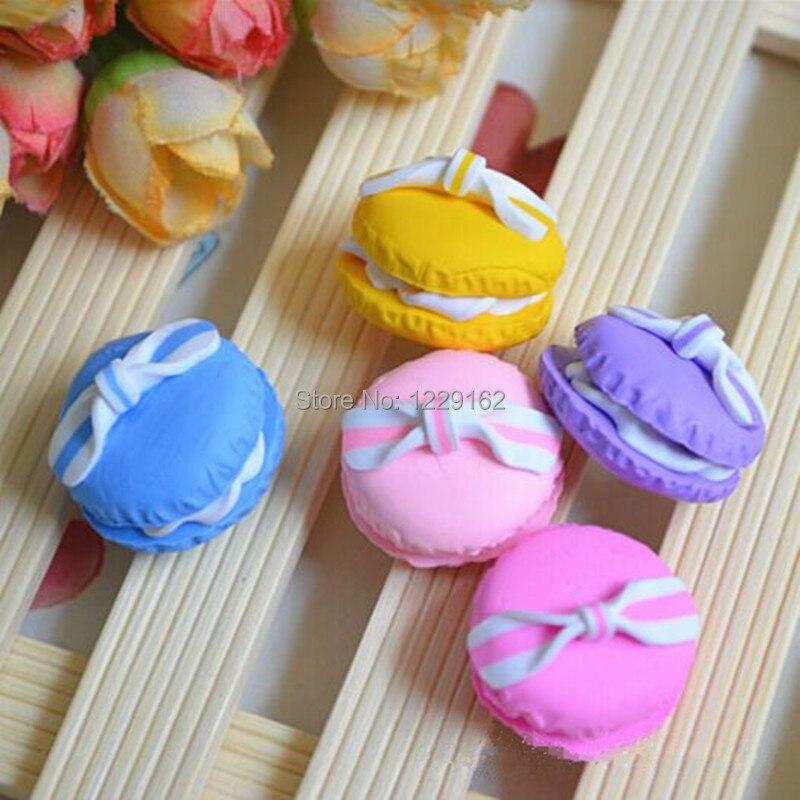 Doprava zdarma (5ks / sada) Roztomilý Candy lednička magnet pro děti lednička nálepka krásná Macaroon zpráva nálepka domů Dekor