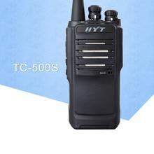 Walkie Talkie portátil a prueba de polvo, dispositivo de Radio HYT TC 500S bidireccional UHF 450 470MHz VHF 136 154MHz