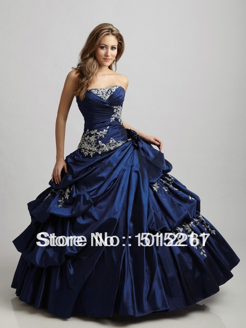 Vintage Sweetheart Beaded Victorian Style Ball Gown Prom Dress Royal ...