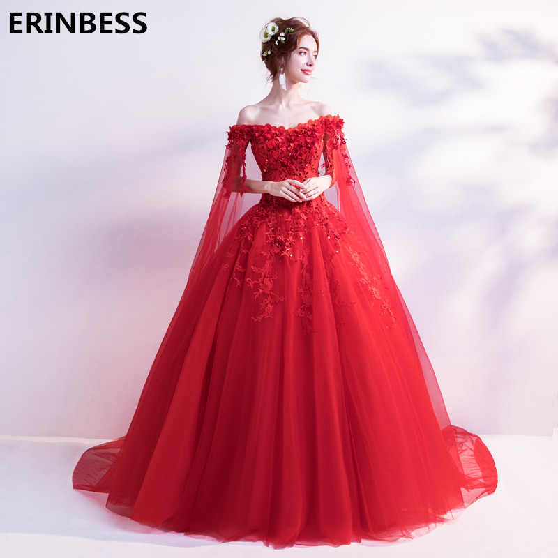 Red   Evening     Dress   Lace-up Robe Longue Vestido De Festa A Line   Evening     Dresses   Long   Dress   Party Gowns 2019 Robe De Soiree